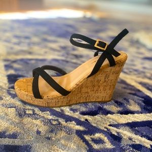Never worn beautiful cork wedges from LULUs !